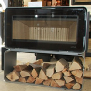 Lotus stove and log holder