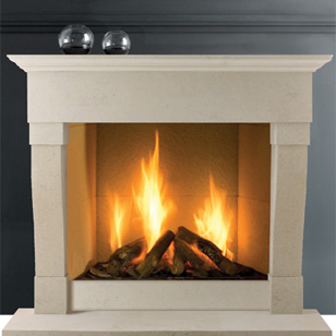 Limestone fireplaces at J Day Stoneworks